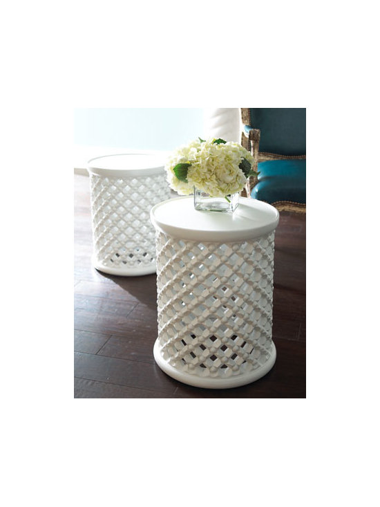 Horchow - Moroccan Garden Seat - Garden stools, like this beautiful one from Horchow, are a great way to add a little style to an outdoor space. They work great as end tables and also as extra seating in a pinch.