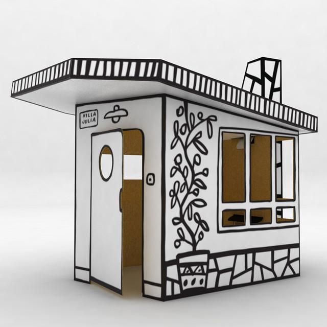 villa julia small cardboard house modern kids toys and