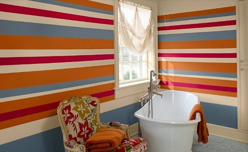 Striped Bathroom