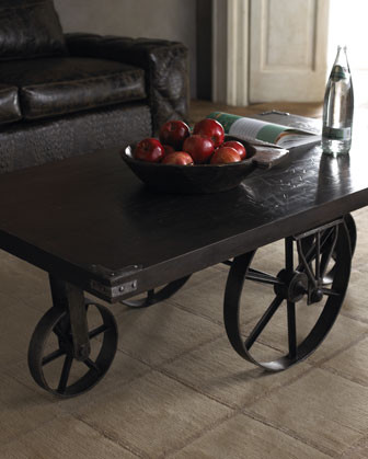 Wagon Wheel Coffee Table Traditional Coffee Tables By Horchow