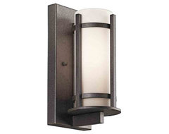 Kichler Lighting 49119AVIFL Camden Anvil Iron Outdoor Wall Sconce rustic-outdoor-lighting