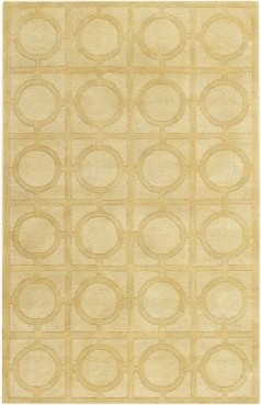 Capel Morgan Hill-Rings 3399RS0 Area Rug - Yellow modern-rugs