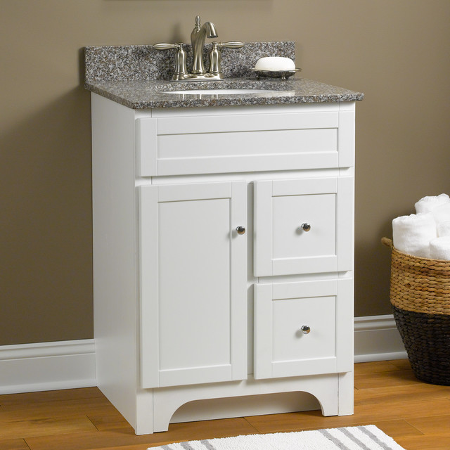 Worthington 24 Vanity In White Transitional Bathroom Vanities And S