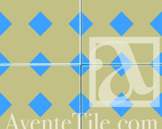 "Geometric Geo 08 Cement Tile 8"" x 8"" -"
