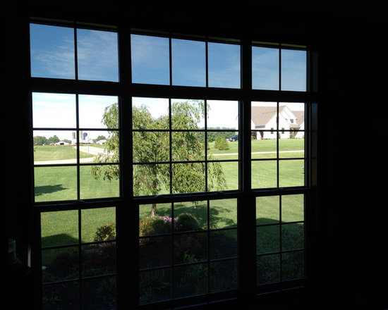 Vaulted Rooms With Window Film Application - Windows don't have to be large or high in the air to damage your home's interior. We apply window film to regular-old windows every day to help protect our customers furnishings.
