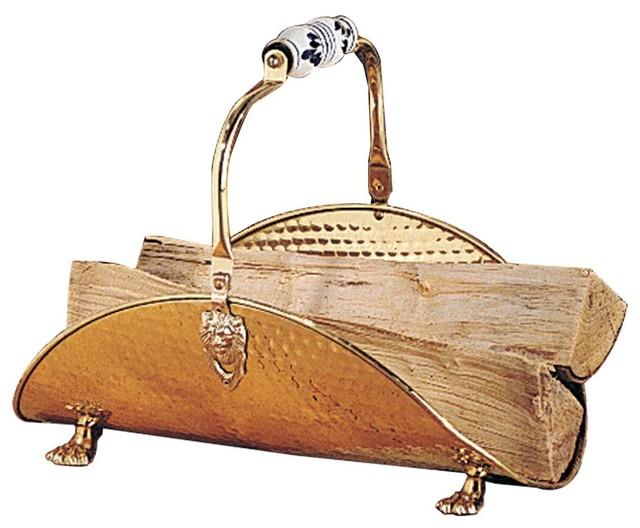 Fireplace Accessories Brass Fireplace Log Holder 97760
