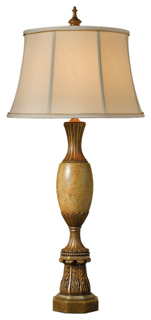 Murray Feiss 9575LIGD Belvedere Library 1 Bulb Library Gold Lamp traditional-table-lamps