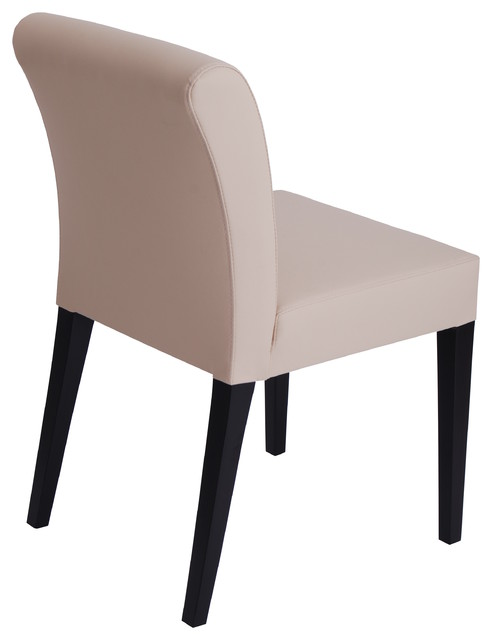 Jackson Dining Chair by Nuans Design - Cream Eco Leather contemporary-dining-chairs