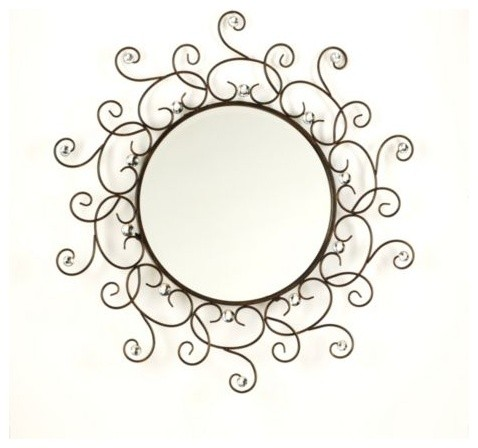 Acrylic Jeweled Mirror eclectic-wall-mirrors