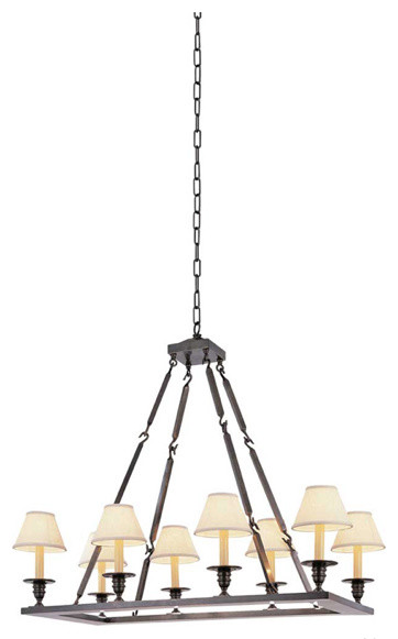 Rectangular Flatline Chandelier traditional-chandeliers