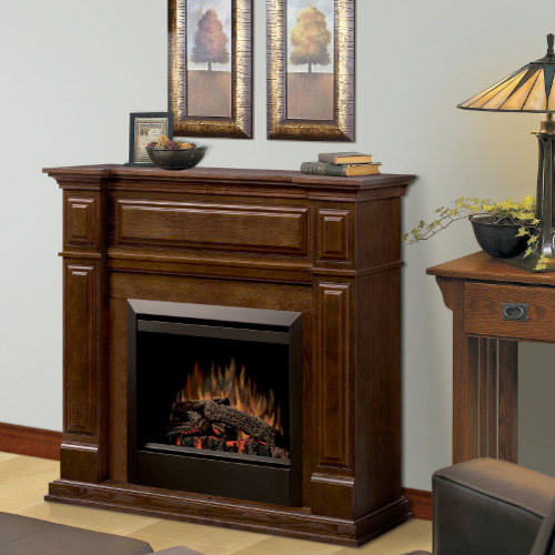 Trenton Mocha Electric Fireplace Mantel Package - GDS23-MA1051 traditional-indoor-fireplaces