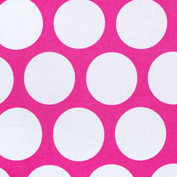 New Arrivals Inc Fabric - Jumbo Dots in Raspberry modern-upholstery-fabric