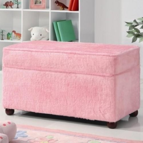 Kids Storage Bench Fuzzy Pink Fabric Contemporary Kids Storage Benches And Toy Boxes By