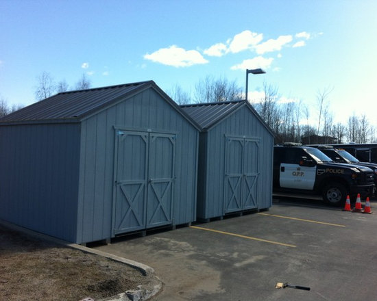 Garden Sheds - 2 Cottage Style Storage Sheds with metal roofs for the OPP Ontario Headquarters by North Country Sheds