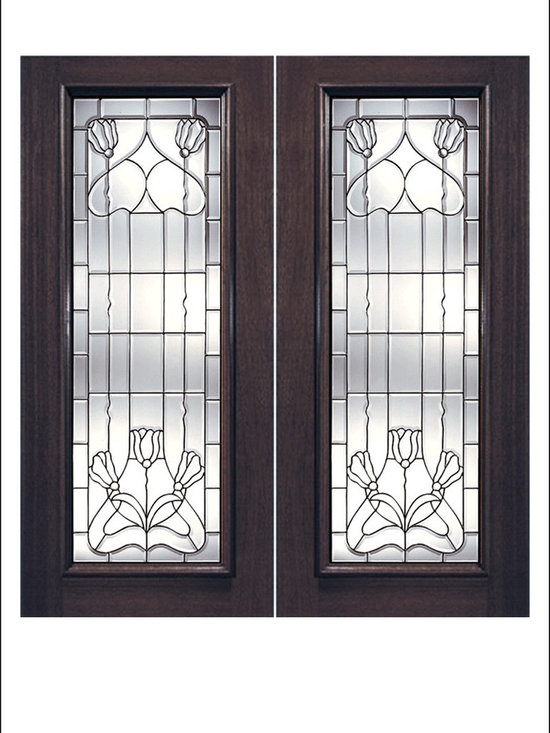 Exterior and Interior Beveled Glass Doors Model # J -