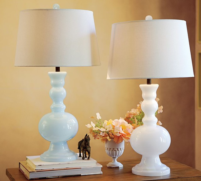 Gemma Milk-Glass Table Lamp traditional table lamps