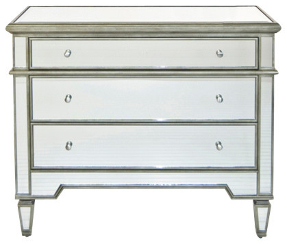 Worlds Away Cary Silver Mirrored Chest contemporary-dressers-chests-and-bedroom-armoires