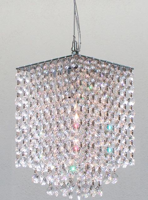 Retractable Pendant Dressed with 100% Crystal contemporary chandeliers