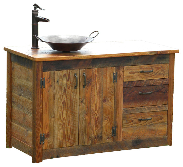 Bathroom Vanity, Left Sided - Traditional - Bathroom Vanities And Sink Consoles - by The Rusted Nail