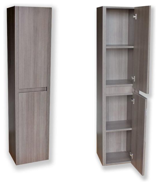 Modern Side Cabinet Grey Oak modern-bathroom-cabinets-and-shelves
