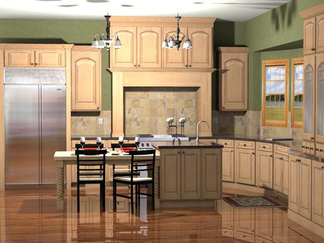Kitchen 3D Rendering traditional-rendering