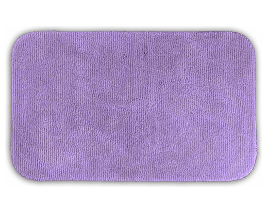 "Sands Rug - Cheltenham Purple Washable Runner Bath Rug (2' x 3'4"") - Add a layer of plush comfort and safety with the inviting Cheltenham bath and spa rug collection. Each piece, whether a bath runner, bath mat or contoured rug, is created from soft, durable, machine-washable nylon. Each floor piece is backed with skid-resistant latex for safety."