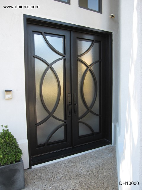 Iron doors exterior contemporary exterior other for Door design houzz