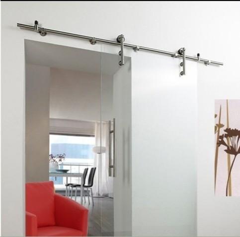 Industrial Modern Stainless Sliding Barn Door Hardware for Glass Door - Modern - other metro ...