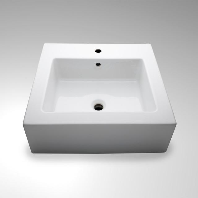 Porcelain Undermount Sink : ... Undermount Rectangular Porcelain Lavatory Sink modern-bathroom-sinks