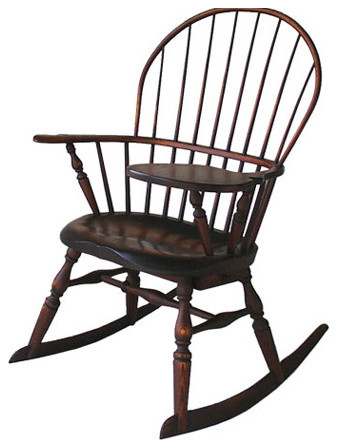 Windsor Chairmakers Windsor Sackback Rocker with Writing Arm and Drawer traditional-rocking-chairs