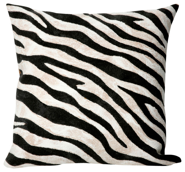 Zebra Decorative Pillows : Black and White Zebra Print 20