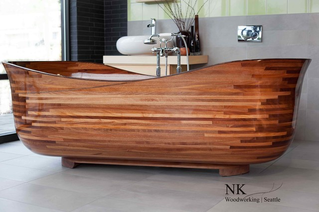 wood bathtub nk woodworking seattle contemporary