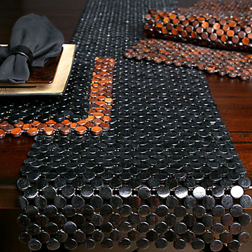 Beaded Bamboo Table Linens modern-tablecloths