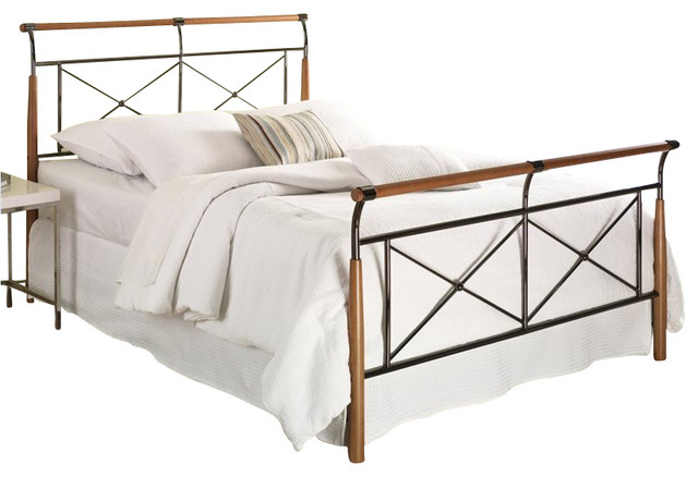 Fashion Bed Kendall Bed in Beech and Black Sapphire transitional-beds