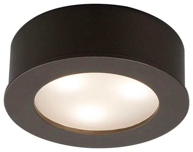 LED WAC 3 Watt Copper Bronze Under Cabinet Button Light - Modern - Undercabinet Lighting - by ...