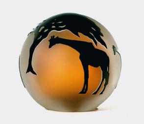 Amber/Black Giraffes Paperweight modern-artwork