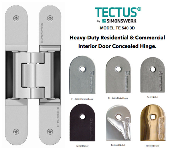 TECTUS Concealed hinges by Simonswerk modern-home-improvement