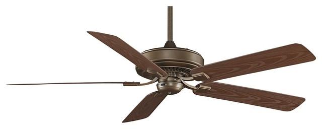 """Traditional 60"""" Fanimation Edgewood™ Aged Bronze Wet Ceiling Fan traditional-ceiling-fans"""