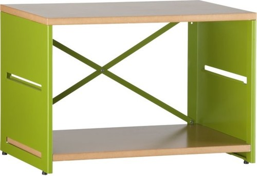 CB2 table Get Your Color On spring green decorating