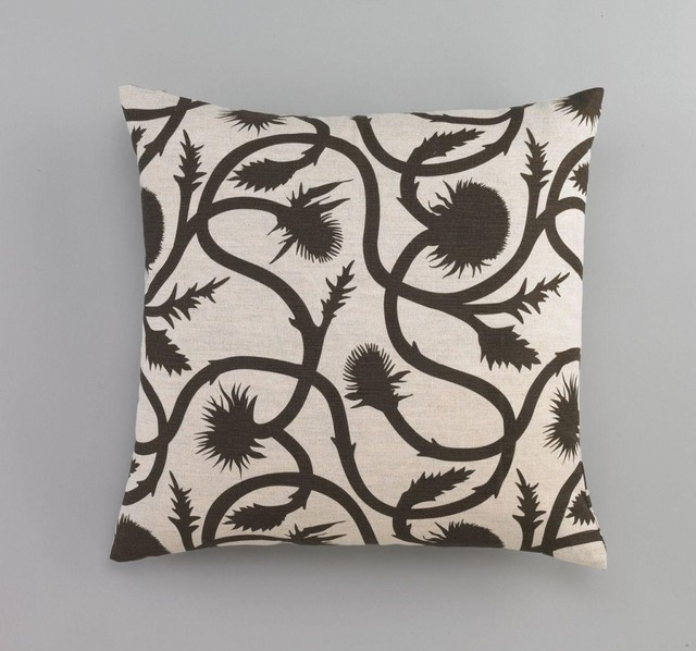 Dwell Studio Thistle Vine Major Brown Pillow traditional-decorative-pillows