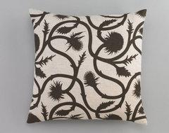 Dwell Studio Thistle Vine Major Brown Pillow traditional-pillows