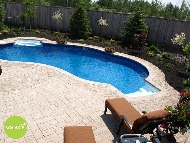 Poolscaping traditional pool ottawa by solace for Pool design ottawa
