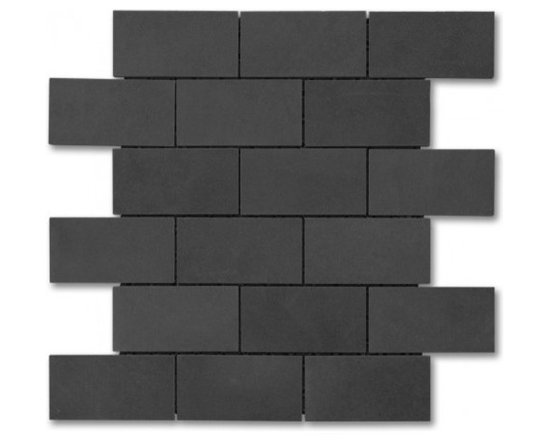 Lava Rock polished 2x4 Brick pattern stone mosaic - Lava Rock polished 2x4 stone brick pattern mosaic.