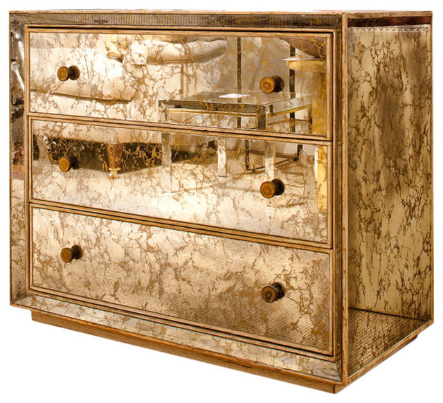 1940s Marbled Mirror Chest of Drawers traditional dressers chests and bedroom armoires