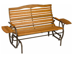 High-back Glider with Trays traditional-outdoor-stools-and-benches