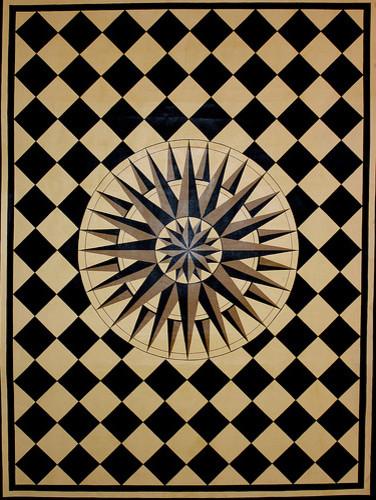 Starburst Floorcloth traditional-home-decor