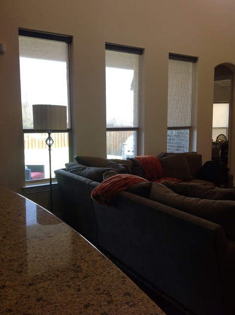 North Irving Foundation Window Treatments traditional
