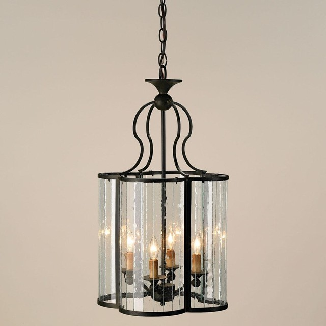 Currey & Co Rupert Lantern traditional-pendant-lighting