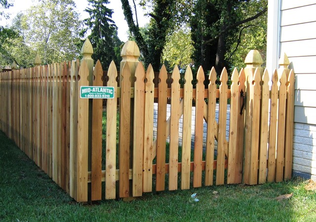 Colonial Gothic Picket Fence 1 Baltimore By Mid