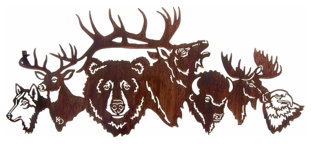 National Park Crew Wildlife Metal Art Over Door Hanger rustic-artwork